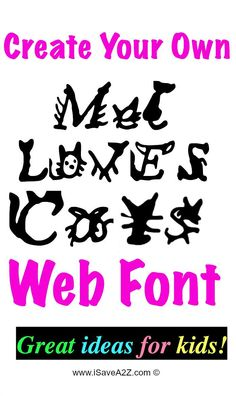 How To Create Your Own Web Font - iSaveA2Z.com