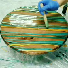 Resin Art on Wood, Art on Wood, How To Make Wood Art ? Wood art is usually the task of shaping about and inside, so long as the surface of someth. Diy Resin Art, Epoxy Resin Art, Diy Resin Crafts, Art Diy, Wood Resin, Epoxy Resin Table, Home Crafts, Fun Crafts, Diy And Crafts