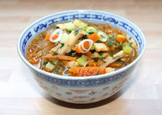 Kínai csirkeleves recept foto Clean Recipes, Healthy Recipes, Sweet And Salty, Wok, Soups And Stews, Thai Red Curry, Main Dishes, Appetizers, Food And Drink
