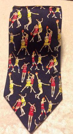 Alynn Neckwear Slam Dunk Vintage Basketball Neck Tie Made In USA 100% Silk #Alynn #NeckTie