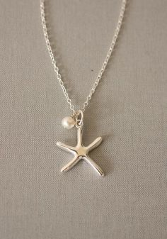 Sea Star Starfish Sterling Silver Necklace $79