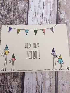 Diy Postcard, Karten Diy, Birthday Postcards, Bday Cards, Envelope Art, Creative Lettering, Doodle Drawings, Diy Birthday, Mail Art