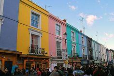 The famous Portobello Road in London.