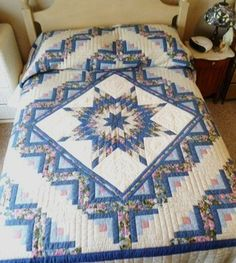 Hand Quilted Amish made Queen Comforter