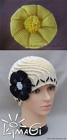 Шали, шарфы, шапочки крючком 40