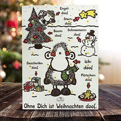 """Sheepworld Adventskalender """"Ohne Dich ist Weihnachten doof"""", mit Schokolade: Amazon.de: Lebensmittel & Getränke"""