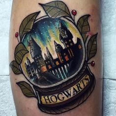 Awesome Hogwarts snow globe by @chrisstockings ⚡️ ... #harrypotter…