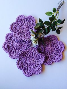 Cotton Spa Scrubbies Crochet Handmade Gift For by MimisPearTree