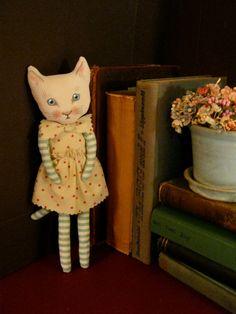 cat fabric doll sandy mastroni cat art doll cat by sandymastroni