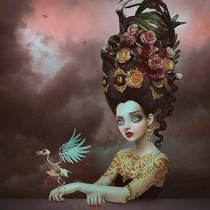 Gorgeous new digital work by ‪#‎beautifulbizarre‬ Issue 001 cover artist Natalie Shau