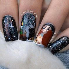 Uploaded by Monique Niewold. Find images and videos about nails, disney and nail art on We Heart It - the app to get lost in what you love. Disney Nail Designs, Long Nail Designs, Best Nail Art Designs, Acrylic Nail Designs, Disney Acrylic Nails, Best Acrylic Nails, Cute Nails, Pretty Nails, Kid Nails