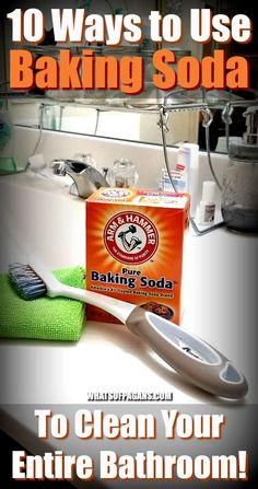 Using baking soda for bathroom cleaning is just smart! Learn some of my favorite cleaning bathrooms with baking soda recipes! Many use vinegar or peroxide or other common ingredients. Deep Cleaning Tips, House Cleaning Tips, Spring Cleaning, Cleaning Hacks, Cleaning Routines, Daily Cleaning, Cleaning Solutions, Cleaning Products, Baking Soda Drain Cleaner