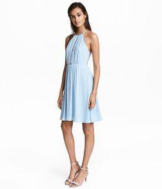 Kleid mit Spitzendetails | Hellblau | Damen | H&M DE