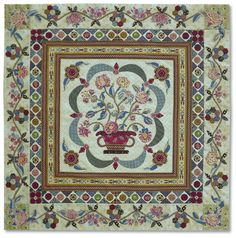 Di Ford mystery quilt part 3 - Quiltmania - le magazine du patchwork Sampler Quilts, Scrappy Quilts, Petra Prins, Hexagon Quilt, Hexagons, Traditional Quilts, Antique Quilts, Flower Applique, Mystery