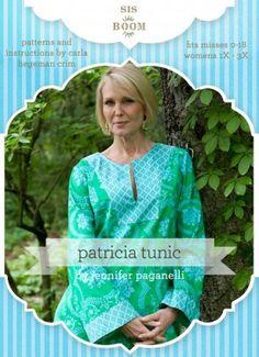 Patricia Tunic PDF Pattern for Women | Sis Boom