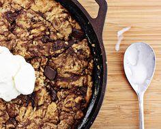 Delightful Bitefuls: One-Pan Chocolate Chunk Skillet Cookie