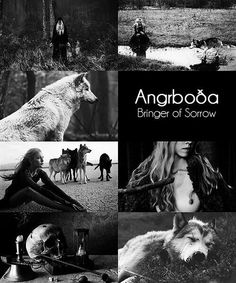 Mythology Meme Angrboda is mother of Death. Her spear never fails. She was a Jotne daughter and mistress of Loke, the half breed. She gave birth to the Fenris wolf, Jormundgand and Hel. Thor, World Mythology, Greek Mythology, Norse Pagan, Norse Goddess, Pagan Gods, No Quarter, Norse Vikings, Asatru