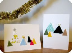 Felt and Fabric Christmas Cards | 49 Awesome DIY Holiday Cards
