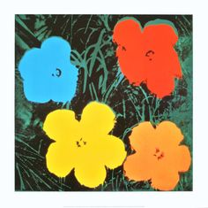 Flowers IV Print by Andy Warhol at Art.com