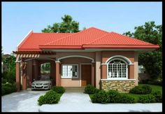 Small Bungalow House Design - Home Decoratings And DIY Bungalow Haus Design, Small Bungalow, Modern Bungalow House, Bungalow House Plans, Duplex House, Bedroom House Plans, Simple House Design, Modern House Design, Philippines House Design