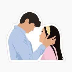 Diy Stickers, Laptop Stickers, Couple Illustration, I Still Love You, Diy Canvas Art, Aesthetic Stickers, Cartoon Pics, Sticker Design, Cute Art
