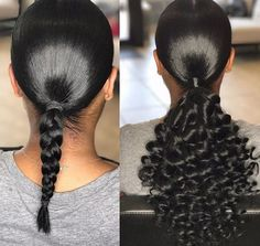 Half wigs are a great way to add volume and length to your natural hair in an instance. Half wigs are very versatile with clip ins and sew ins. Slicked Back Ponytail, Slick Ponytail, Curly Ponytail Weave, Natural Hair Ponytail, Curly Wigs, Ponytail Styles, Curly Hair Styles, Ponytail Ideas, Natural Hair Tips