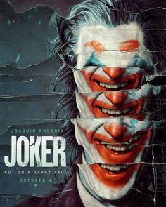 Joker 2019 Movie Poster Put A Happy Face DC Comics Joaquin image 1 Joker Poster, Movie Poster Art, Poster Design Movie, Fan Poster, Best Movie Posters, Poster Designs, Joaquin Phoenix, Art Du Joker, Der Joker