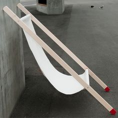 A small space winner designed in land-locked Switzerland, the Curt evokes a traditional shipdeck chair with a seat sling. It's obviously comfortable, has an anti-slip coating for safety, and may be easily stored. (Bernhard Burkard, designer)