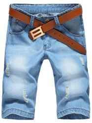 Hot Sale Ripped Denim Shorts For Men