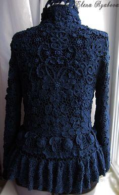 Captivating Crochet a Bodycon Dress Top Ideas. Dazzling Crochet a Bodycon Dress Top Ideas. Crochet Coat, Crochet Cardigan Pattern, Crochet Clothes, Crochet Lace, Irish Crochet Patterns, Lace Patterns, Crochet Designs, Diy Couture, Lace Outfit