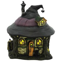 Department 56 House Hilda's Witch Haunt Village Halloween Lighted Building Height: 7.5 Inches Material: Ceramic Type: Village Halloween Lighted Building Brand: Department 56 House Item Number: Departm