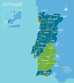 Portugal Latitude And Longitude Map All Things Portuguese - Portugal map longitude