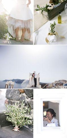 Santorini Greece Destination Wedding by Punam Bean Photography | Style Me Pretty