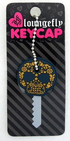 Loungefly Nautical Sugar Skull Key Cap Cover Blue & Gold Rubber Day of the Dead Women Skeleton, Blue Gold, Purple, Key Caps, Skull Fashion, Halloween Skull, Nautical, Sugar Skulls, Future Car