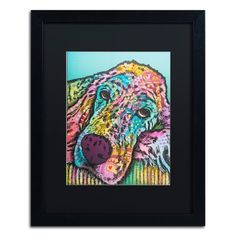 "Trademark Art 'Sadie-005' Framed Graphic Art Print Mat Color: Black, Size: 20"" H x 16"" W x 0.5"" D"