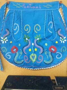 Beautiful Portugal apron with traditional embroidery