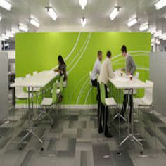 Carpet tiles can look amazing, we can offer a multitude of combinations and finishes to reflect a versatile and thought through interior. Design and Specify, office design, office furniture, Leeds, Yorkshire,