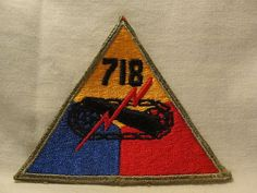 WW2 WWII US Army Armored 718th Tank Battalion Patch Amphibian Tractor Battalion | eBay
