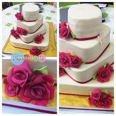 #pastelicious #fondant #weddingcake