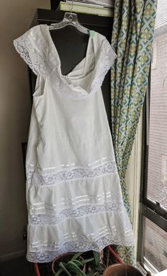 #White #Mexican #Wedding #Dress Off Shoulder by EatGordaEat on #Etsy