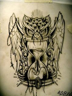Owl tattoos gears for eyes steampunk | owl # wings # drawing # inkedmindsthinkalike