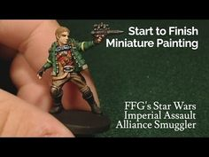 Miniature Painting | Imperial Assault - Alliance Smuggler - YouTube