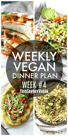 Weekly Vegan Dinner Plan #4