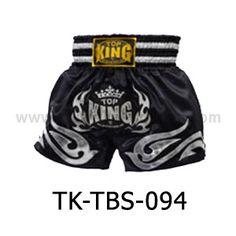 Top King Muay Thai Shorts TK-TBS-94 Black Silver