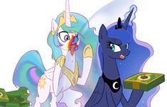 mlp art,my little pony,Мой маленький пони,фэндомы,Princess Luna,принцесса Луна,royal,Princess Celestia,Принцесса Селестия