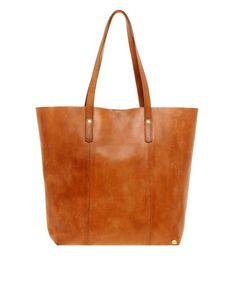 Made | Made North South Leather Shopper at ASOS