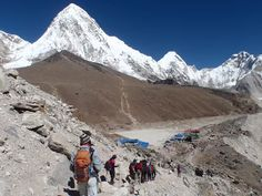 #Everest_Base_Camp_Trekking : Our 20 members team from Singapore are walking near by Gorekhshep from alongside of Khumbu glacier & Wonderful top to bottom pictures of Mt Everest from Kalapathar including khumbu Ice fall with base camp. . . Do book your EBC trek with us for real hiking experience in Nepal. #EBC_trek #hiking_walking #trekking_tours #Khumbu_glacier #world_highest #Nepal_trip #nature_culture #tradition_landscape : @Clear_Sky_Treks..
