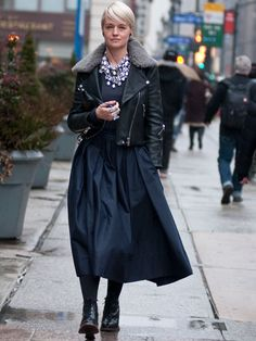 New York Fashion Week Fall 2013 Street Style    See more at: http://www.marieclaire.com/fashion/street-style-fall-2013#slide-1