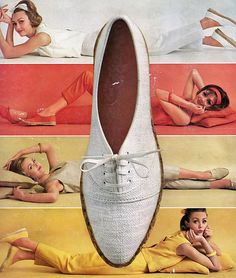 Ina Balke in Keds ad as seen in Vogue US, March 1963