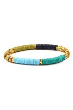 Cute stretchy bracelet - perfect color combo for Spring and Summer!